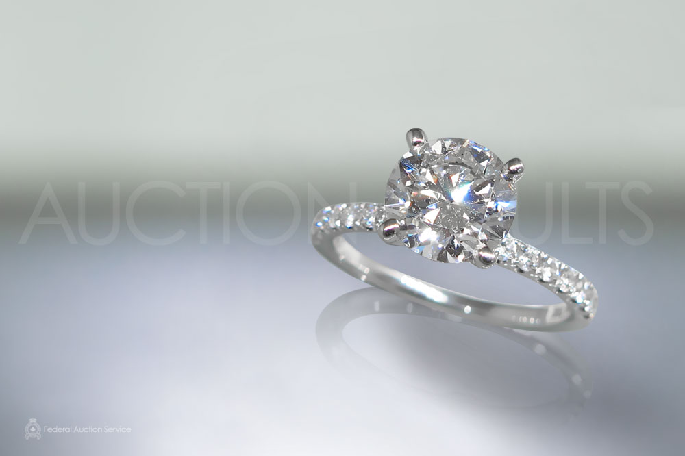 EGL Certified 2.00ct Round Brilliant Cut Diamond Ring sold for $20,000