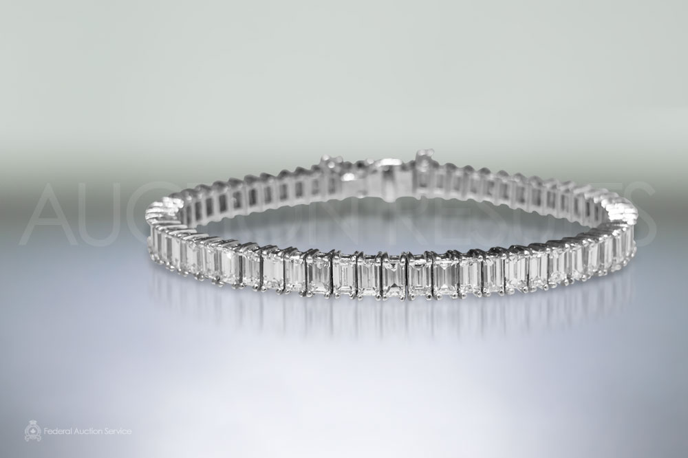 Lady's Platinum Diamond Bracelet sold for $23,000