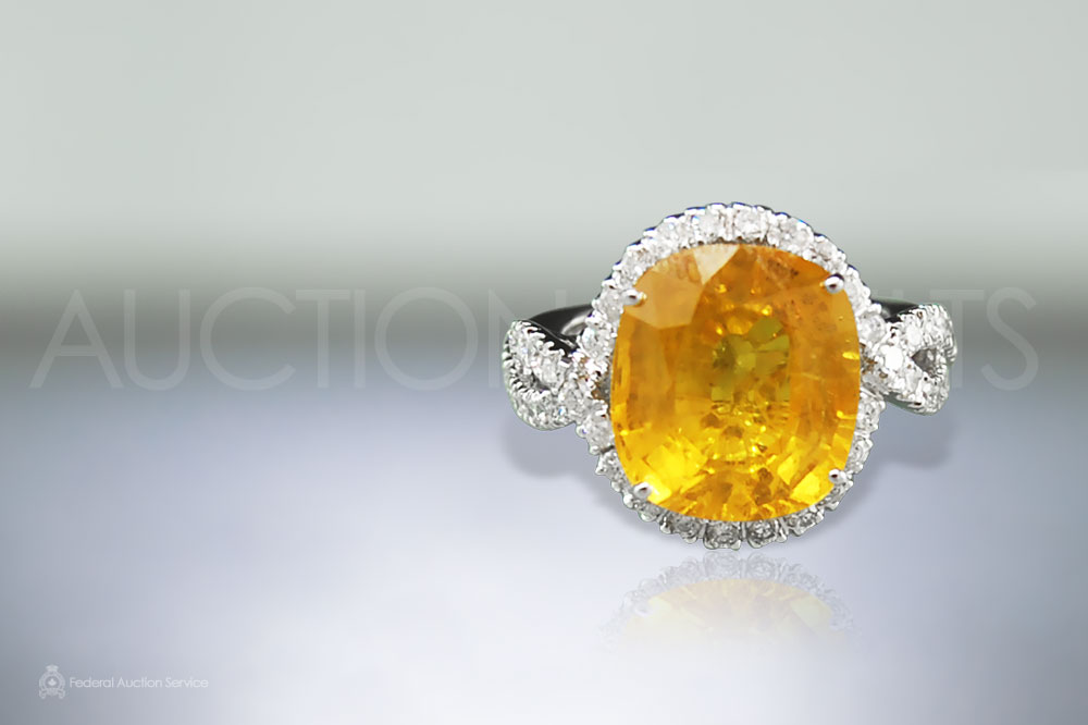 10.64ct Yellow Sapphire Ring sold for $5,500