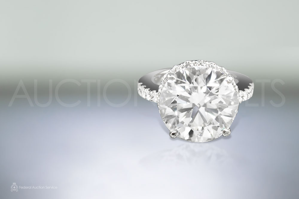 Certified D Color 10.07ct Round Brilliant Cut Diamond Ring Recently sold for $240,000