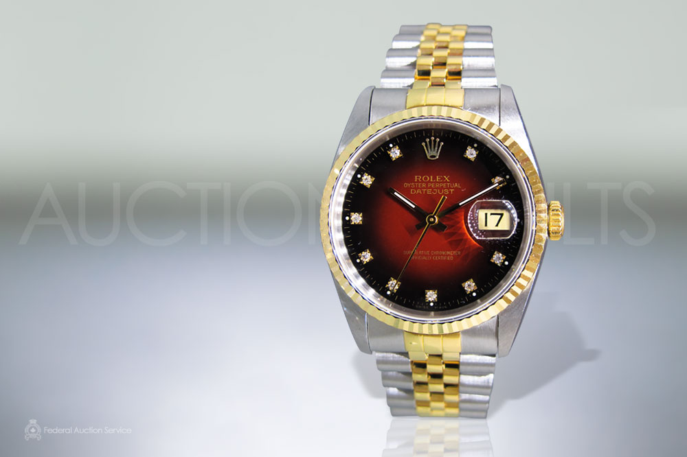 Men's 18k Stainless Steel/Yellow Gold Rolex Datejust Automatic Wristwatch with Diamonds sold for $6,500