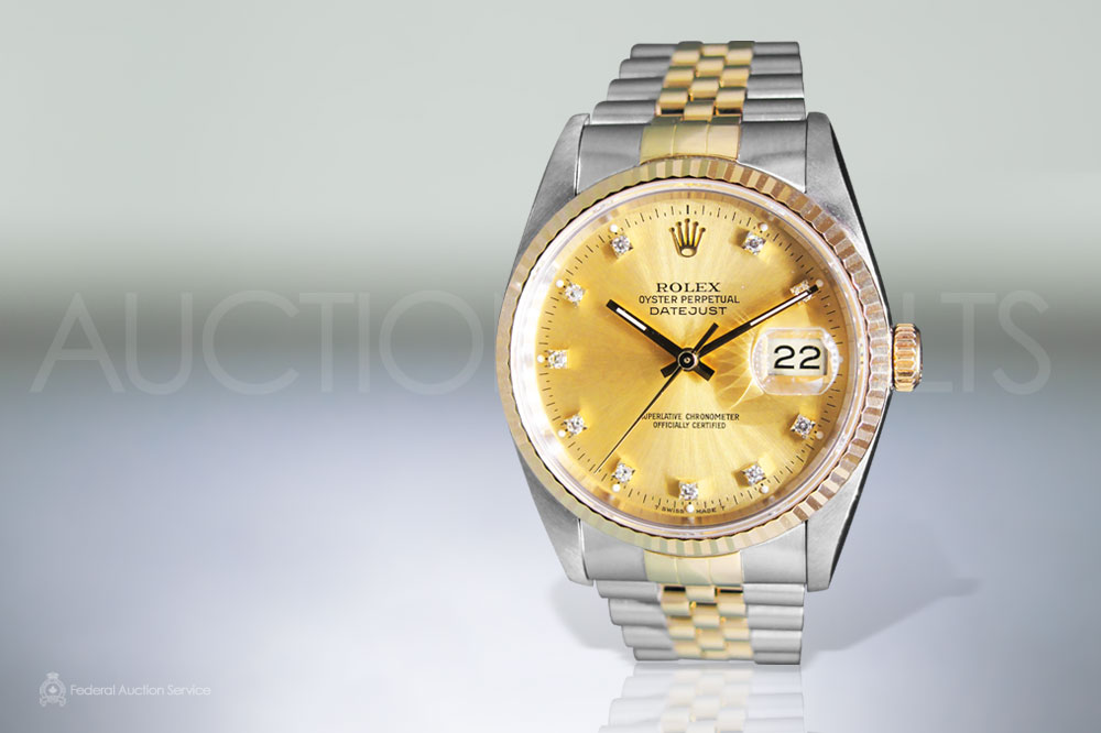 Men's 18k Stainless Steel/Yellow Gold Rolex Datejust Automatic Wristwatch sold for $6,500