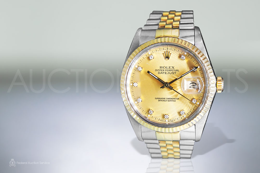 Men's Stainless Steel/18k Yellow Gold Rolex Datejust Automatic Wristwatch sold for $7,000