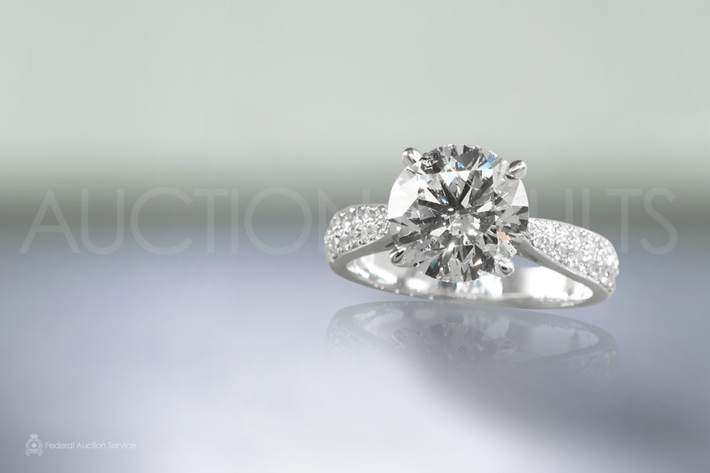 EGL Certified 3.01ct Round Brilliant Cut Diamond Ring sold for $18,000