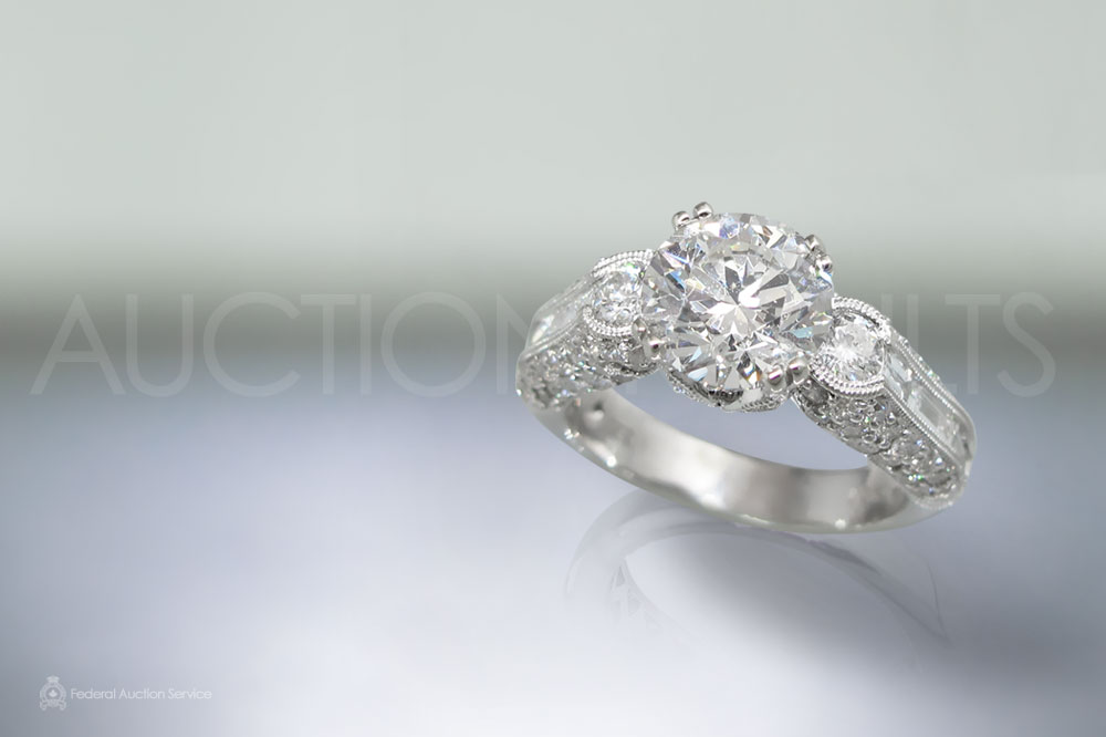 EGL Certified 2.17ct Round Brilliant Cut Diamond Ring sold for $24,000