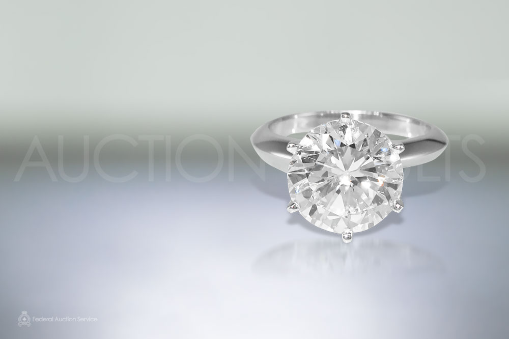 5ct Solitaire Diamond Ring sold for $70,000