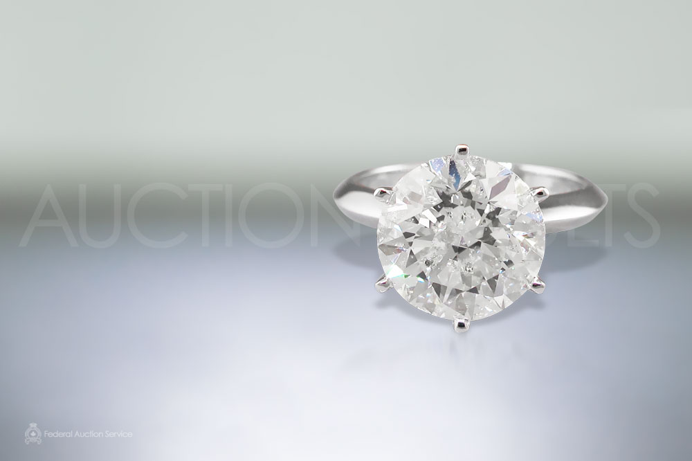 6ct Solitaire Diamond Ring sold for $80,000